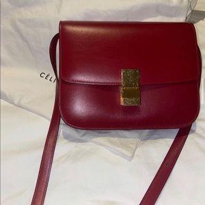 Red Celine bag.